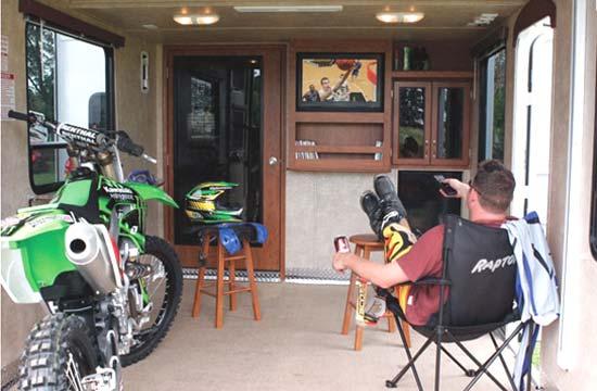 Keystone Raptor Fifth Wheel Toy Hauler Interior 1 The